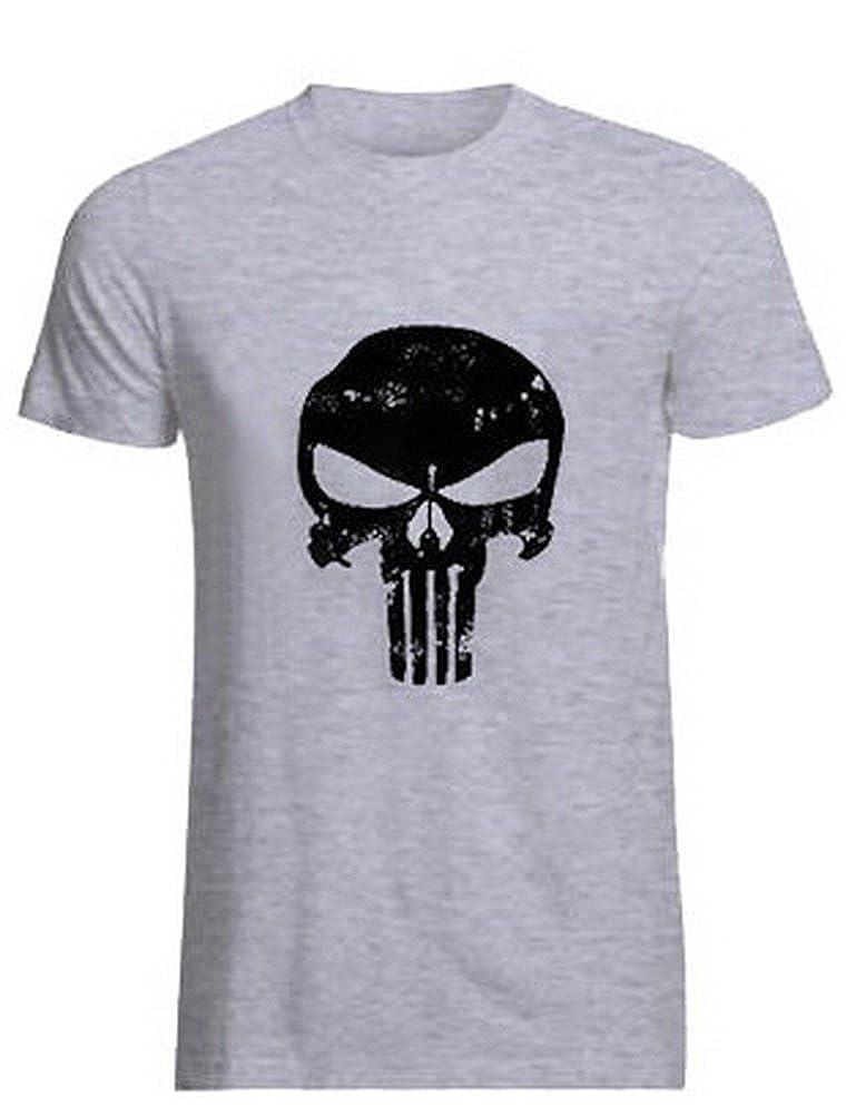 ROBO Palestra Magliette T-Shirt Manica Corta da Uomo Sottile Culturismo in Cotone e Spandex per Palestra e Tempo Libero, M-2XL B1E0173