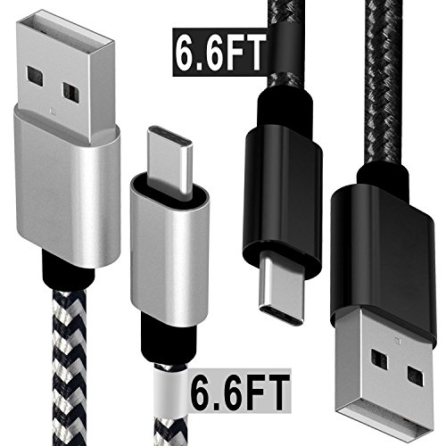 USB Type C Cable, Extra Long Braided Quick Charging Cord, Yo
