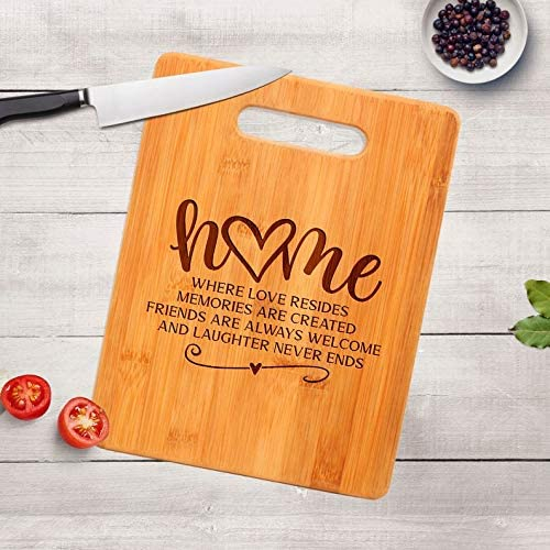 Nawilbi Housewarming Gift Engraved Cutting Board Realtor Closing Gift New Home Gift product image