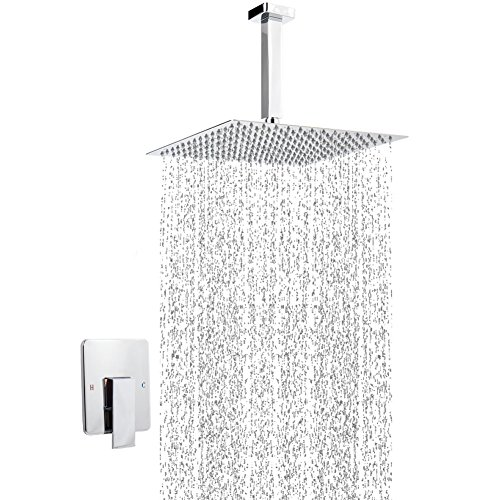 Artbath Shower Trim Kit and Rough-in Shower Valve Body, Ceiling Mounted 12 inch Rain Shower Head Set, Chrome Finished by Artbath (Image #8)