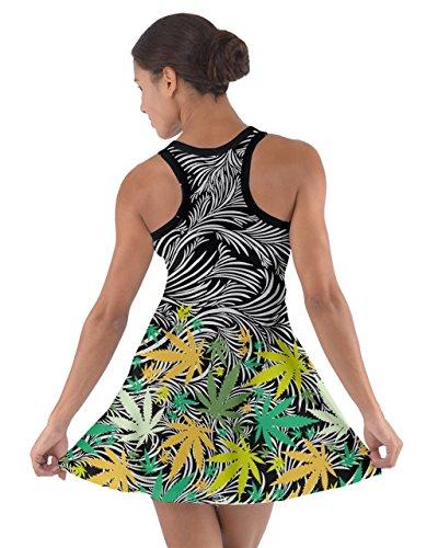 CowCow - Vestido - para mujer Black Cannabis