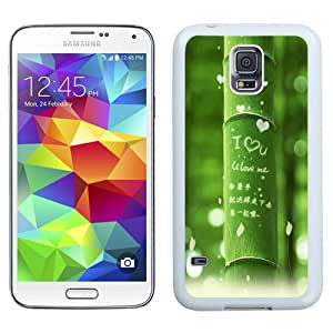 Fashionable Custom Designed Samsung Galaxy S5 I9600 G900a G900v G900p G900t G900w Phone Case With I Love You Green Bamboo_White Phone Case