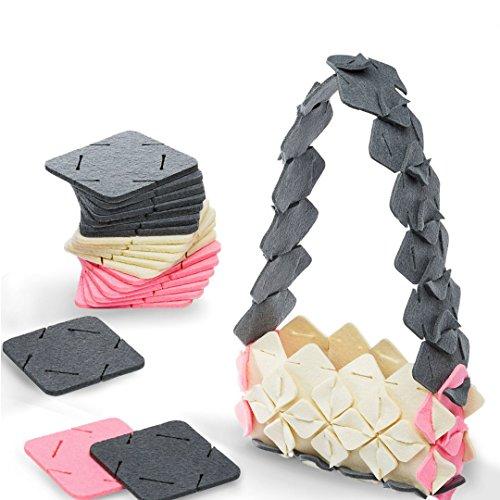 PUT & PULL Arts Crafts Girls, Teens, Kids, 10 DIY Project Ideas, Creative Set - Stem Toys/Making Kit Felt Squares/Crafting Set/ Birthday Craft Gifts Ages 6 14