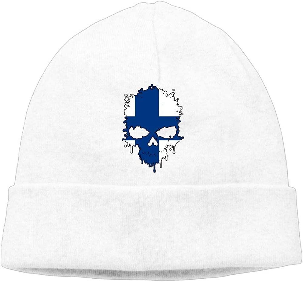 Winter Skiing Cap BF5Y3z/&MA Mens and Womens Finland Skull Knitted Hat