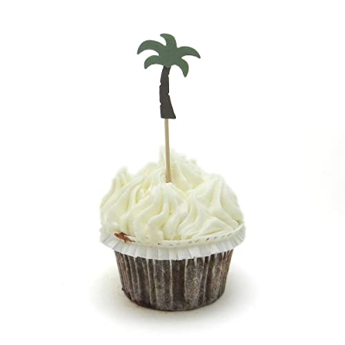 Awe Inspiring Amazon Com Palm Tree Cupcake Toppers Set Of 12 Party Decoration Birthday Cards Printable Trancafe Filternl