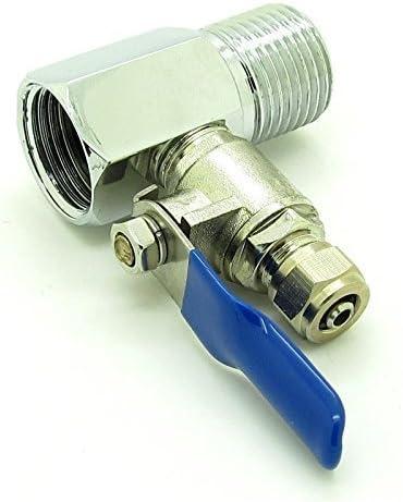 Pxyelec Ro Feed Water Adapter 1//5,1/cm a 1//10,2/cm valvola a sfera rubinetto Feed osmosi inversa