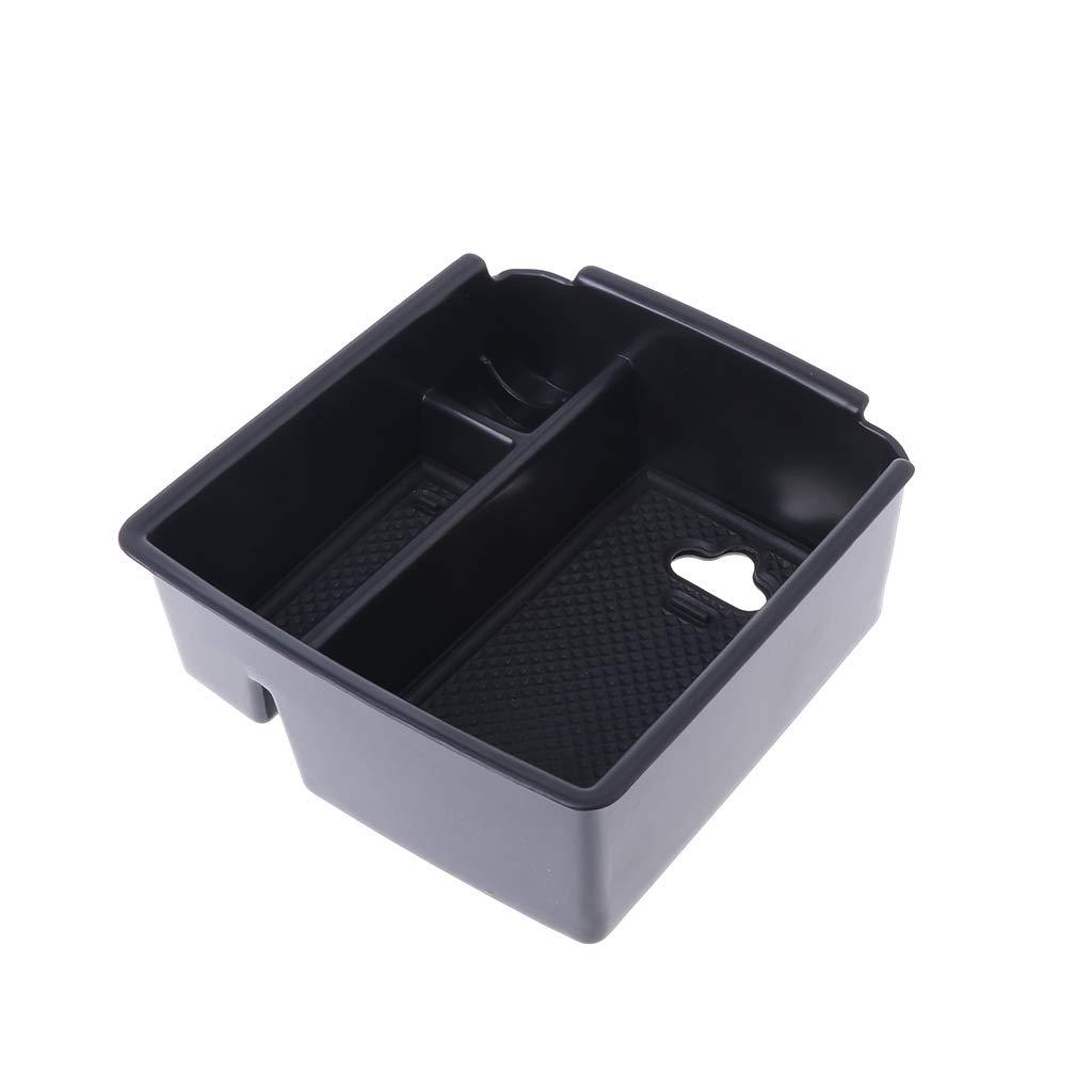 yaonow Armrest Storage Organizer Center Console Tray Divider Glove Box for VW Tiguan MK2 2016-2018