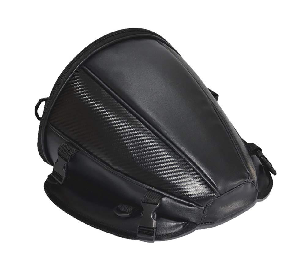 Pevor Motorcycle Tail Bag PU Leather Multifunctional Waterproof Sports Motorcycle Seatback Tool Bag Luggage Carry Bag Bike Storage Tank Bag