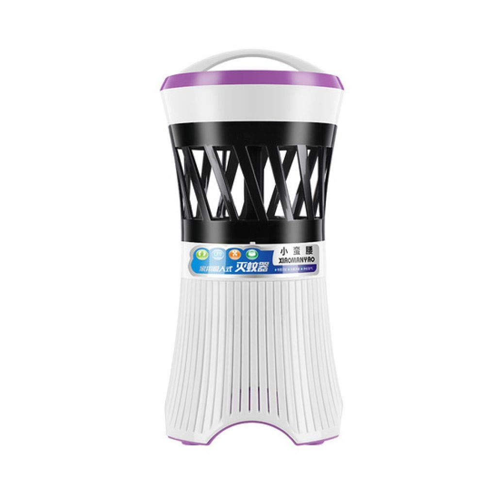 TD Mosquito Killer Mosquito Lamp Photocatalyst Household Inhaled Fly Mosquito Repellent Lamp Maternal Baby M0031 (Color : Glamour Purple) by TD