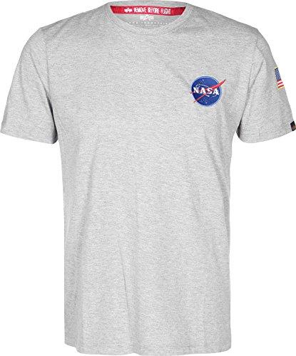 Maglieria Grigio Uomo Alpha Industries Shuttle Mélange T shirt Space q0EFaw5