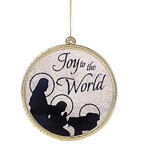 Joy to the World Round Glass Christmas Ornament, 2 3/4 Inches, Pack of 6 by Christmas Begins with Christ Collection