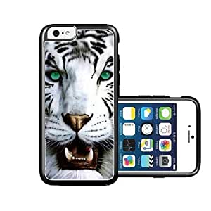 RCGrafix Brand Bengal Tiger Green Eyed Royal White iPhone 6 Case - Fits NEW Apple iPhone 6