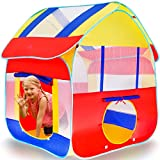 Kiddey Playhouse Tent for Boys, Polyester Nylon Pop Up for Indoor/Outdoor Fun, Promotes Creativity / Imagination / Early Learning, Blue