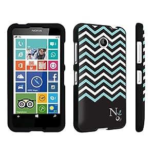 DuroCase ? Nokia Lumia 635 Hard Case Black - (Black Mint White Chevron N)