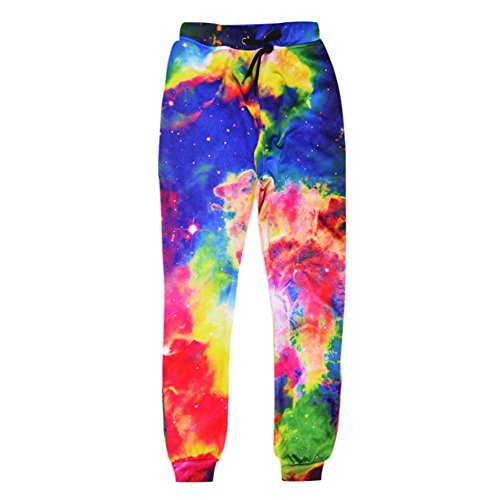 Dorathy Unisex Galaxy 3D Punk Sweatpants Hip Hop Trousers Pants Jogger Sweatpant