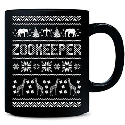 Zookeeper Ugly Christmas Sweater Xmas Animals - Mug by AttireOutfit (Image #1)