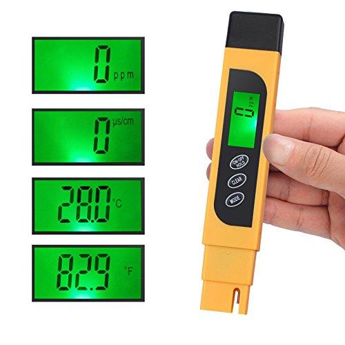 Water Quality Tester, TDS Meter, EC Meter & Temperature Meter 3 in 1, 0-9990ppm, Ideal Water Test Meter Drinking Water, Aquariums, etc. by ht-dd (Image #7)