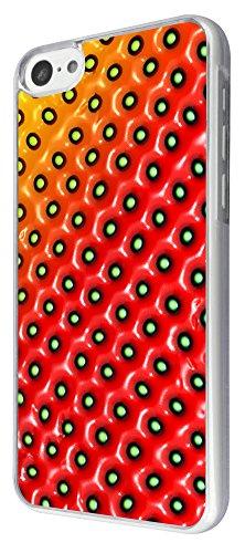 691 - Summery Strawberry Pattern Design iphone 5C Coque Fashion Trend Case Coque Protection Cover plastique et métal