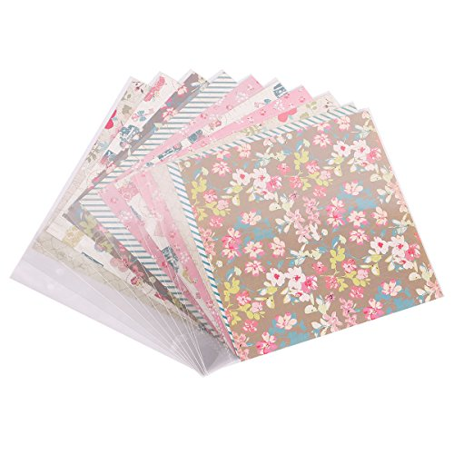 (FaCraft 8x8 Scrapbook Kit Refill Pages and Paper Protecters 10 Sheets)
