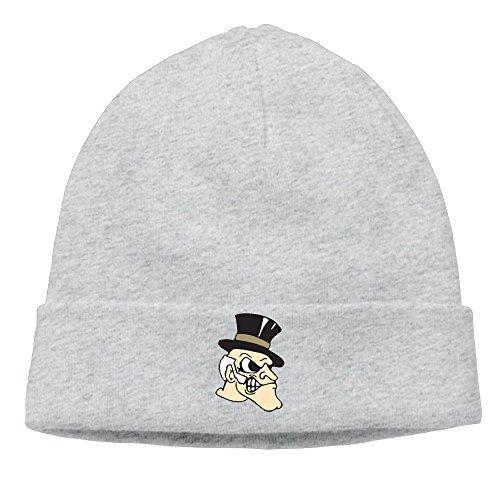 ElishaJ Unisex Wake Forest University Beanie Cap Hat Ski Hat Cap Skull Cap Ash (Skully And Green Demon)