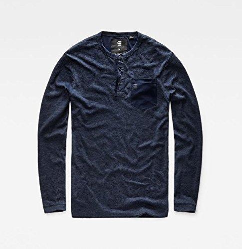 Police R s dk Raw T Classic Bleu shirt T Pocket Granddad star Homme Blue 7174 L G Unw8xfW6O5