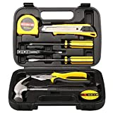 Tool Kit. Best Portable Small Basic Starter Professional Household DIY Hand Mixed Repair Set W/Plastic Storage Case For Home, Garage, Office For Men&Women. Includes Screwdriver, Wrench, Pliers&Etc.