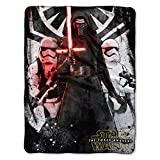 1 Piece 46'' x 60'' Black Star Wars Theme Throw Blanket, Kylo Ren Darth Vader Movie Characters Space Galaxy Light Saber TIE Fighter Millennium Falcon Drones Micro Rashel Warm Jedi Knight Polyester