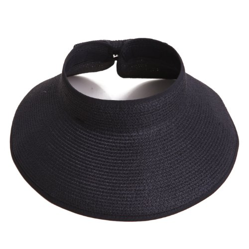 Women's Packable Roll Up Wide Brim Sun Visor - Wide Brim Sun Visor