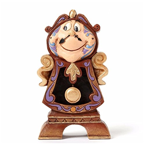 "Cogsworth Beauty Beast (Disney Traditions by Jim Shore ""Beauty and the Beast"" Cogsworth Stone Resin Figurine, 4.25"")"