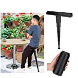 Adjustable Stand-up Leaning Seat Altra-Light Portable Stool Compact Folding Stick Chair for Travel Outdoor Concerts Amusement Parks Subway Backpacking Hiking Camping Fishing