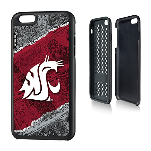 Washington State Cougars iPhone 6 Plus & iPhone 6s Plus Rugged Case officially licensed by Washington State University for the Apple iPhone 6 Plus by keyscaper® Durable Two Layer Protection ()
