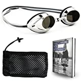 Start Smart Mirrored Swim Goggles Designed for Speed, Comfort, and You in Mind - with Anti-Fog Technology and UV-Protection for Men & Women – Free Bonus Mesh Storage Bag and an E-Book