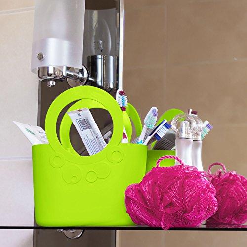 Borsa spiaggia cestino flessibile multiuso Lily 30 x 15 x 35 cm colore: lime