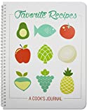 BookFactory Recipe Book/Recipe Journal/Notebook/Blank Cook Book - 150 Total Recipe Pages (8 1/2' X 11') 75 Individual Recipes, Translux Cover, Wire-O Binding (JOU-150-7CW-A(Recipe Journal))