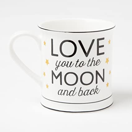 0a25394b616 Love You To The Moon & Back Golden Stars Mug: Amazon.co.uk: Kitchen & Home