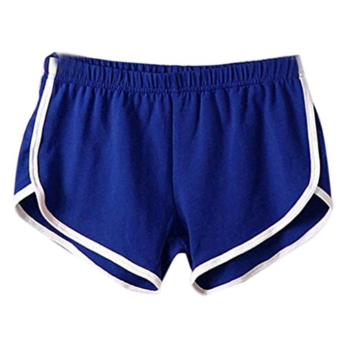 DaySeventh New Summer Pants Women Sports Shorts Gym Workout Yoga Short (S, Blue) ()