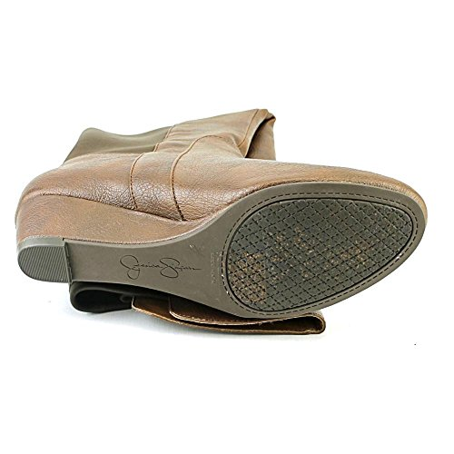 Jessica Simpson Womens Joline Riding Boot Bourbon Tessuto Sintetico / Scuba