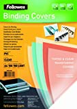 Fellowes PVC Binding Cover A4 150 Micons Clear (Pack of 100)