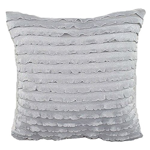 LivebyCare Lace Ruffles Dual-Layered Cushion Cover Linen Viscose Throw Pillow Case Sham Pattern Zipper Pillowslip Pillowcase for Decor Decorative Drawing Living Room (Monogrammed Bolster Pillow)