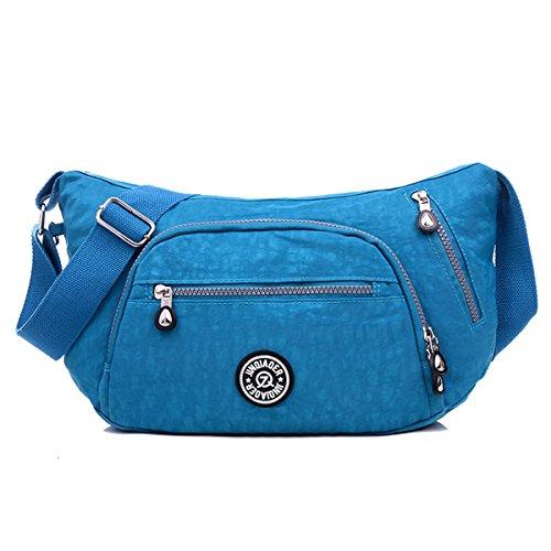 Tasche Tianhengyi Blu Spalla Nylon Con Donna Di Resistenti Cerniere Sacchetto All'acqua Sia Forma Polpetta XwqfrX18