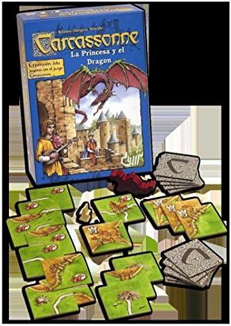 Devir - Expansión Carcassonne: La Princesa y El Dragón (49642): Amazon.es: Juguetes y juegos
