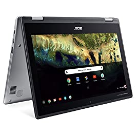 Acer Chromebook Spin 11 CP311-1H-C5PN Convertible Laptop, Celeron N3350, 11.6″ HD Touch, 4GB DDR4, 32GB eMMC, Google Chrome