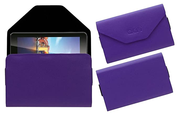 Acm Pouch Case Compatible with Iball 6351 Q40i Tablet Flip Flap Cover Purple Tablet Accessories