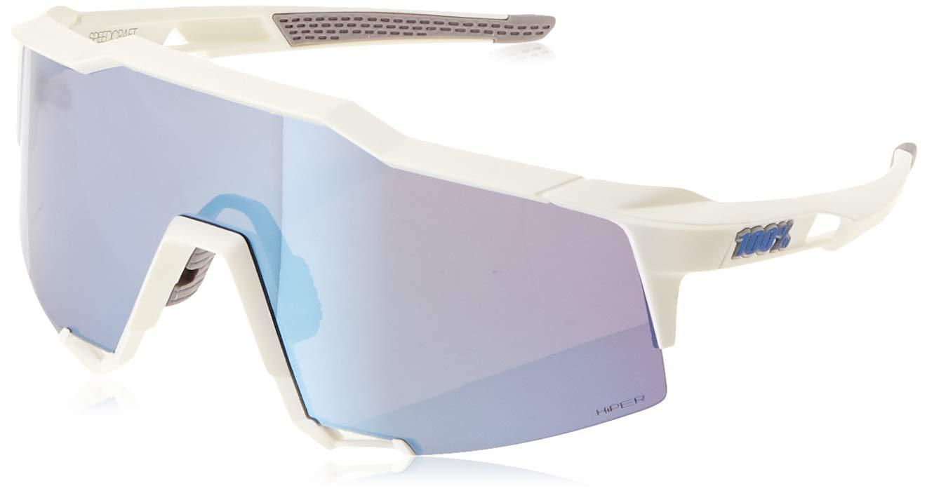 100% Unisex-Adult Speedlab (61001-000-75) Speedcraft-Matte White-HiPER Blue Multilayer Mirror Lens, Free Size) by 100% (Image #1)