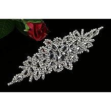 Rhinestone Applique Bridal Accessories Crystal Trim Rhinestone Beaded Applique Wedding Dress Sash Belt Headband Jewelry
