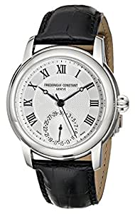 Frederique Constant Maxime Men's 710MC4H6 Stainless Steel Watch with Seconds Hand and Black Leather Band