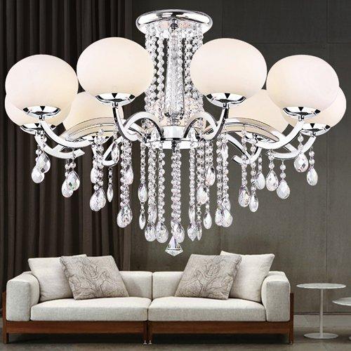 Lightinthebox European MINI Style Elegant Luxury 9 Light Crystal Chandelier, Modern Ceiling Light Fixture for Dining Room,Bedro om, Living Room by LightInTheBox