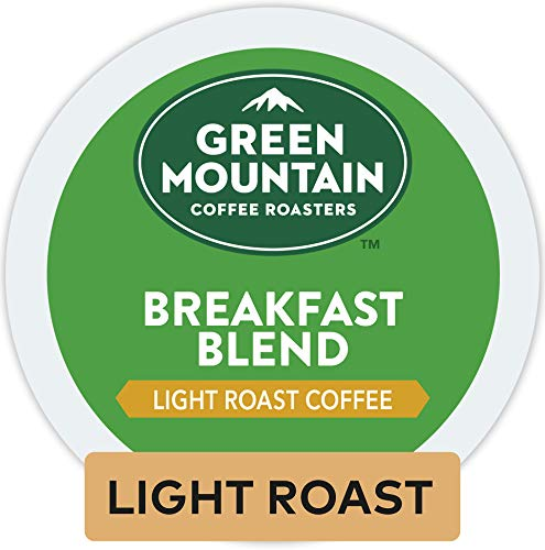 Green Mountain Coffee Roasters Breakfast Blend, Single Serve Coffee K-Cup Pod, Light Roast, 12 Count, Pack of 6 ()