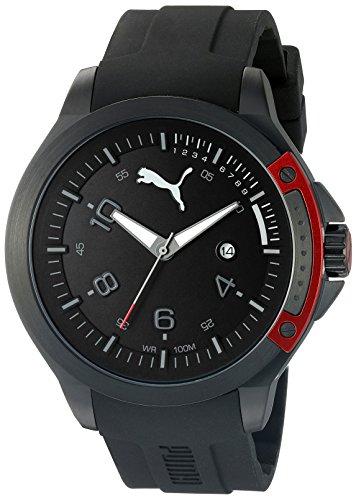 Price comparison product image PUMA Unisex PU104011001 Pioneer black red Analog Display Watch