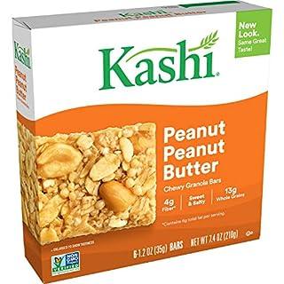 Kashi, Chewy Peanut, Peanut Butter, Granola Bars, Vegan, 7.4oz, Box of 6 (Pack of 8)